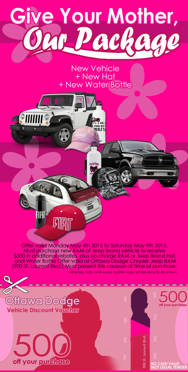 Ottawa Dodge Mothers Day Sale